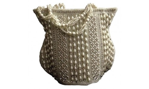 Classic White Bag with Peal Pattern