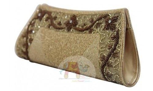 Golden Bag with Brown Decor