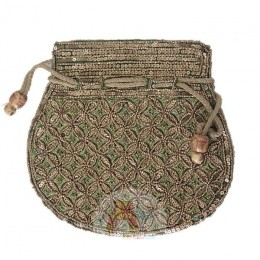 Golden Pattern Pouch - Green