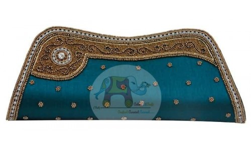Decorated Blue Clip Bag