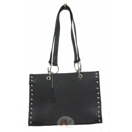 Black handbag with Metal Stud