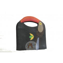 Colorful Bird Bag (Black)