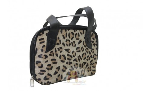Cheeta Print Leather Bag