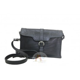 Compact & Elegant Black Leather Bag