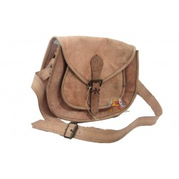 Small Raw Leather Sling Bag