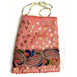 Pink Hand Bag with Design