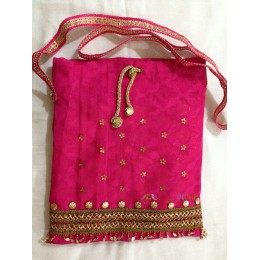 Pink Gold Dotted Sling Bag