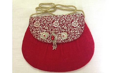 Red Sling with Design