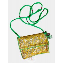 Yellow with Green Sling Bag