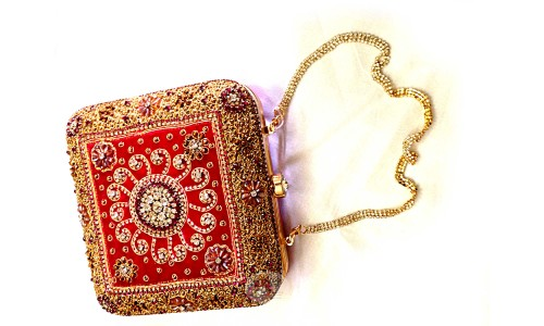 Red Clutch Sling Bag