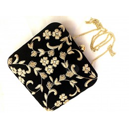 Black Clutch Sling Bag