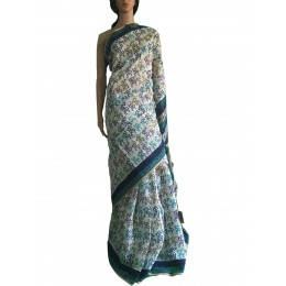 Blue Printed Multi-Colour Maheshwari