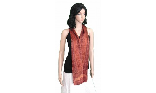 Maroon Colored Printed Pashmina Stole