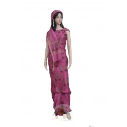 Magenta colored Unstiched Salwar Suit