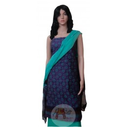 Blue and Purple Unstiched Salwar Suit