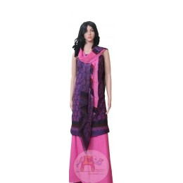 Pink and Purple Unstiched Salwar Suit