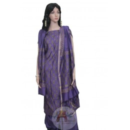 Purple colored with Paisley Motifs Unstiched Salwar Suit