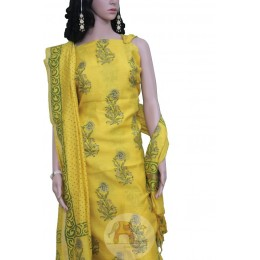Yellow colored with Flower Motifs
