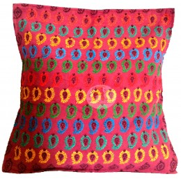 Cotton Cushion Hand Embroidered