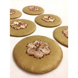 Golden Tissue Glass Covers (Set of 6)