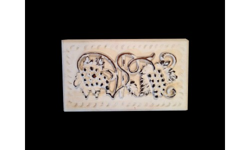 Carved White Wood Box
