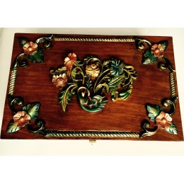 Carved Hand Polished Cabinet Box
