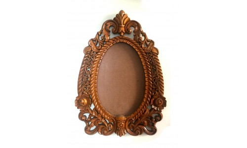 Large Brown Colored Design Frame