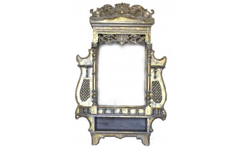 Window Size Jharokha Frame (Gold-White)